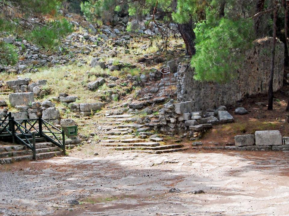Akropolis'e çıkan basamaklar