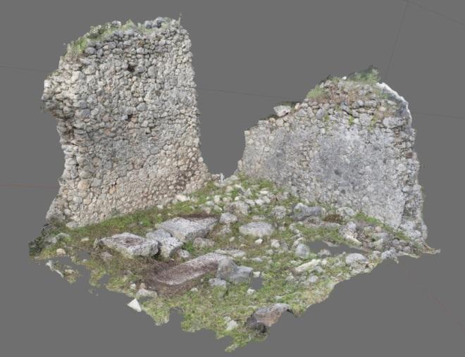 Kuzeybatı nekropolis anıtsal (oda) mezar yapısı mevcut korunum durumu (3KB.71)