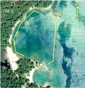 Güney limanı mendirek kalıntıları