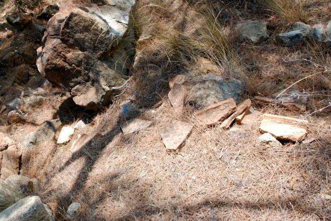 Alan çalışmasında tespit edilen terracotta parçaları