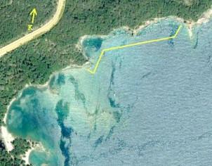 Kuzeydoğu <em>nekropolis</em>'in olduğu kıyının 4-7 m açığında uzanan alanın taranması