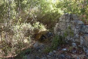 Zeus Boulaios alanındaki duvar kalıntıları