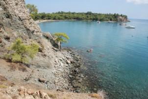 Phaselis-Tekirova arasındaki sahil yol güzergahı