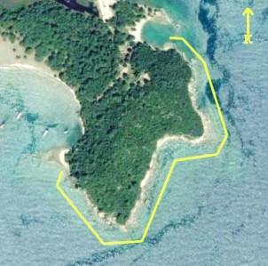 Güney Liman-Merkezi Liman Arasında, kuzeydoğu-güneybatı istikametinde uzanan Akropolis'in dik yarları boyunca sürdürülen su altı araştırması.
